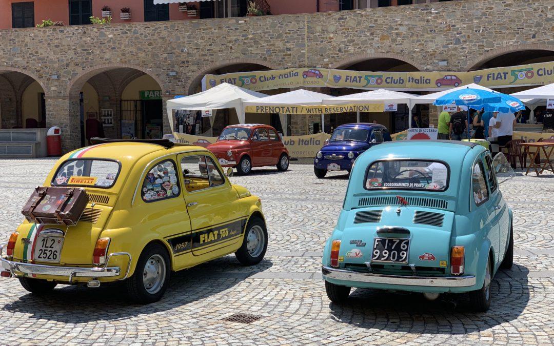 Es Moggerla – Ankunft und erster Eindruck beim Fiat500-Treffen in Garlenda/It